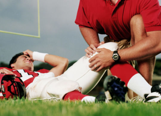 sports injury in footbal